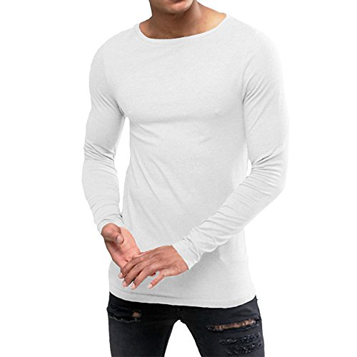 5257710847b38b OA ONRUSH AESTHETICS Men s Extreme Muscle Fit Long Sleeve T-Shirt with Boat  Neck