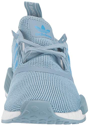 adidas Originals Unisex NMD_R1 Running Shoe ash Grey/Shock Cyan/White 4 M US Big Kid by adidas Originals (Image #4)