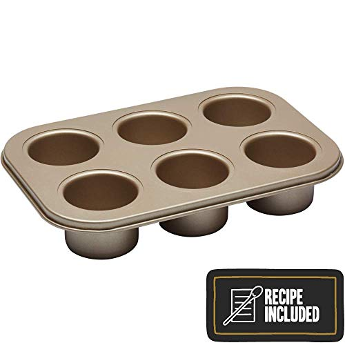 Paul Hollywood By Kitchencraft 6-hole Non-stick Deep Pie / Tart Baking Tin With
