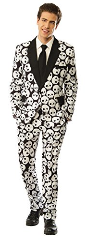 Rubie's Men's Skull Tuxedo, Black/White, Medium