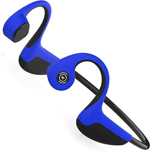 Lonfine Bone Conduction Headphones Bluetooth Wireless Sports Men s Running Women s Fitness Sweat-Proof Ear Hanging Type Noise-reducing for iPhone Android Devices Bone Conduction Blue
