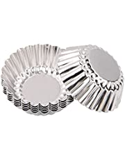 20pcs Silver Aluminum Alloy Lace Egg Tart Model Cupcake Cake Cookie Cake Mold Homemade DIY Pudding Pie Mould Tin Baking Tool