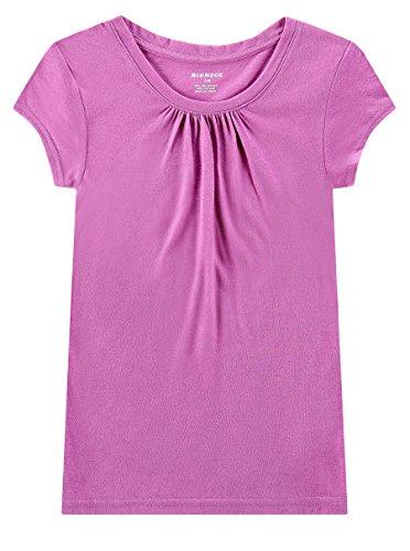 Bienzoe Girl's School Uniform Anti-Microbial Breathable Quick-Dry Short Sleeve Crew Neck T-Shirt PackC 6/6X by Bienzoe (Image #5)