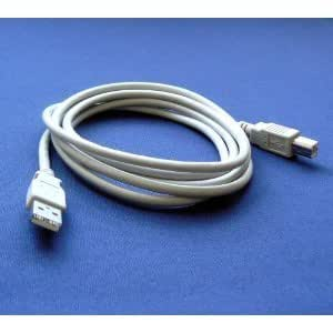 Epson Expression Home XP-400 Printer Compatible USB 2.0 Cable Cord for PC, Notebook, Macbook - 6 feet White - Bargains Depot®