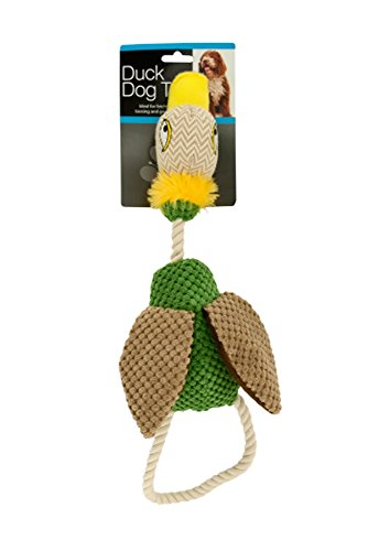 Bulk Buys OL386-4 Fabric Duck Dog Toy, 4 Piece