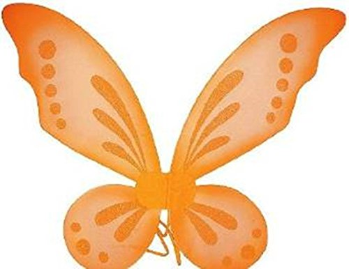 [KWC - Pixie Fairy Wings Tinkerbell Princess Tutu Dress up Costume (Orange)] (Orange Adult Butterfly Costumes)