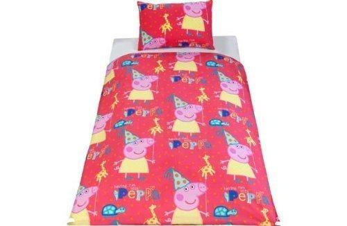 Peppa Pig Parure de lit pour enfant Motif jeux.