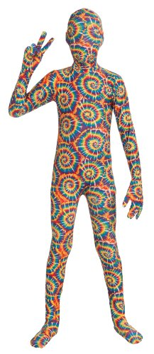 [Forum Novelties I'm Invisible Costume Stretch Body Suit, Tie Dye, Child Large] (Tie Dye Dress Costume)