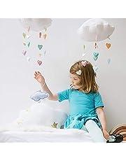 EisEyen - Decoración para habitación de los niños, diseño de nubes en 3D, gotas de lluvia, decoración para habitación infantil, decoración para el hogar, dormitorio