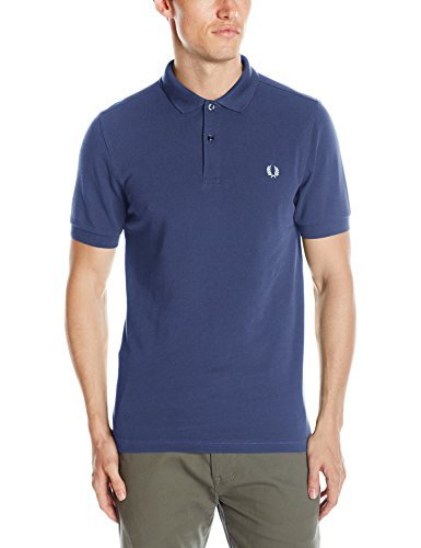 Fred Perry Fp Plain Shirt-Camiseta Hombre Azul Service Blue/Snow ...