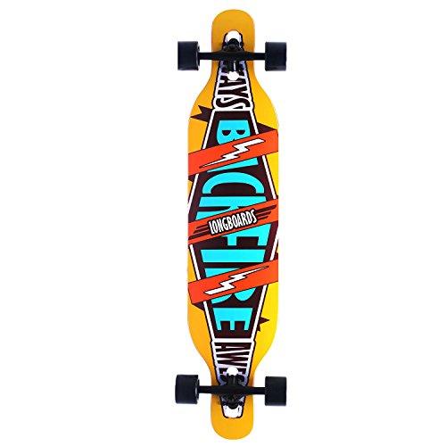 Hot Cruiser Through 9.5×42 Longboard THRU Skateboard Complete Trident White