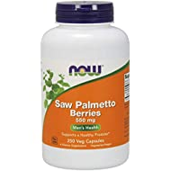 NOW Supplements, Saw Palmetto Berries (Serenoa repens) 550 mg, Men's Health*, 250 Veg Capsules