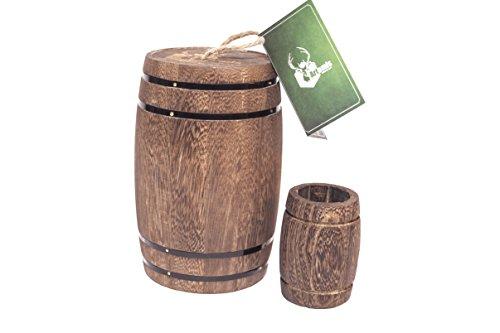 Wooden Barrel, Wine barrel decor, Wooden kitchen canisters, Wood barrel centerpiece, Wood utensil holder, Decorative wood jar & Wedding decorations. Small whiskey barrel, Toothpick holder. (Barrel Wine Holder Utensil)