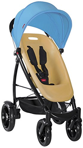 phil&teds Smart Buggy V2 Complete - Almond Seat + Bubblegum Blue