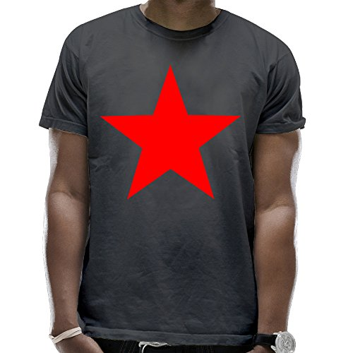 Adult Red Star Short Sleeves Sleeve Pocket Popular T Shirt Joker