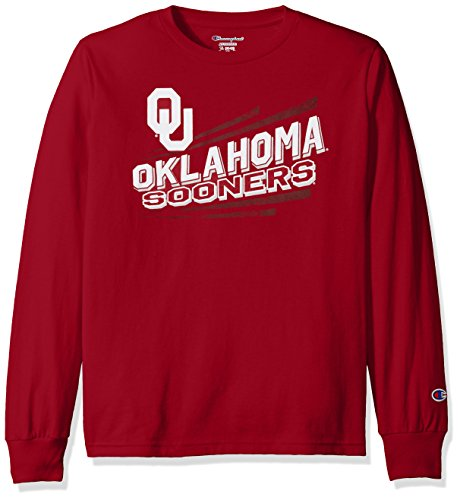 NCAA Oklahoma Sooners Youth Boys Long sleeve Jersey Tee, Medium, Cardinal (Sooners Jersey Oklahoma)