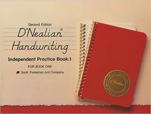 Amazon.com: D'Nealian Handwriting, Independent Practice/Book 1 ...