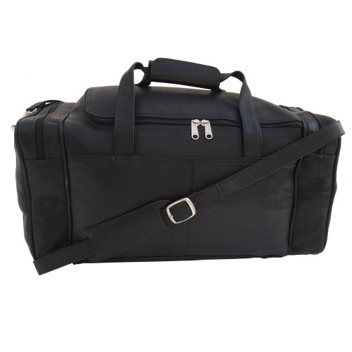 Piel Leather Small Duffel Bag, Black, One Size
