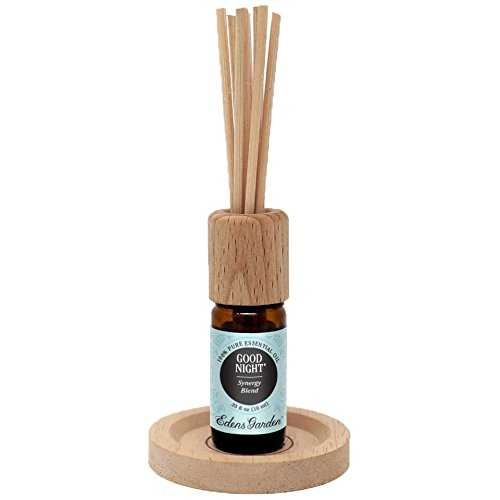 Edens Garden Reed Diffuser Bottle of Good Night Synergy Blend, Certified Therapeutic Grade, GC/MS Tested, 10 mL by Edens Garden