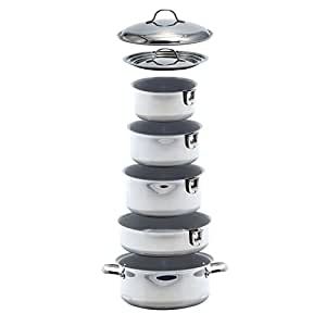 Amazon Com Kuuma 10 Piece Ceramic Nesting Cookware Set