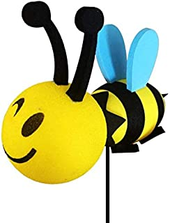 WEILIVE Happy Bee Car Antenne Topper Honey Bumblebee Balle aérienne - Balle d'antenne