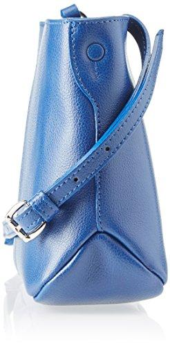 piero guidi 210791082, Borsa a Tracolla Donna, 24,5x17,5x11 cm (W x H x L) Blu (Notte Scura)