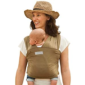 Amawrap Baby Sling Wrap   UK Made, 100% Natural Cotton   9 Colours (Olive)   Stretchy Wrap Sling from Birth   Newborn…