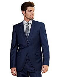 JYDress Men's 3 Pieces Navy Blue Wedding Suits for Men Business Men Suits Groom Tuxedos