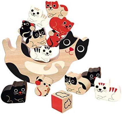 漫画の動物のビルディング・ブロック、ジャグリング、赤ちゃん、パイル、バランス、おもちゃ、早期教育、パズル、ボードゲーム