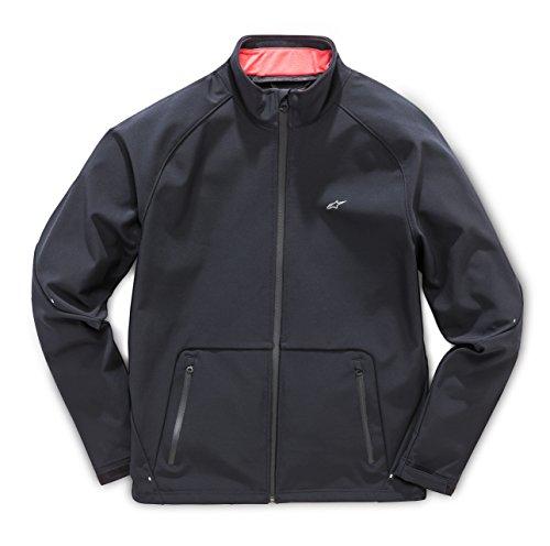 (Alpinestars Men's Tech Bonded Soft Shell Regular Fit Track Collar Jacket, Sector Black M )