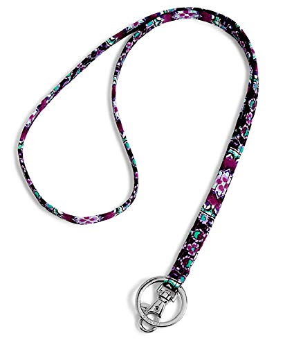 Vera Bradley Lanyard in Lilac Medallion Signature Cotton ()