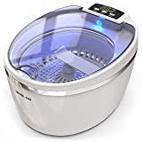 Professional Ultrasonic Cleaner, Jewelry Polisher with Digital Timer and Watch Holder, 600mL (20 oz) Stainless Steel Tank, 5 Timer Setting, LED Screen, for Eye Glasses, Watches, Earrings, Ring