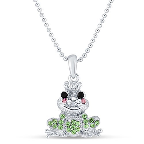 Love of Nature Animal themed - Pendant with Necklace - Premium Quality by Conceited (Frog ()