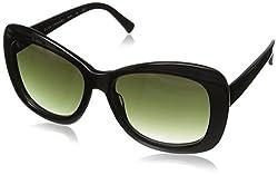 Elie Tahari Women's EL123 Cateye Sunglasses, Blonde Horn & Cream, 56 mm