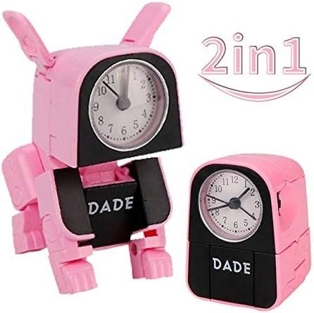 Robot Dog Toy Reloj Despertador Creativo Estilo Lindo Robot Deformado Relojes De Mesa para Estudiantes Decoración De Dormitorio Regalo De Cumpleaños 5.5 * 5.4 * 7.4cm Rosado: Amazon.es: Hogar