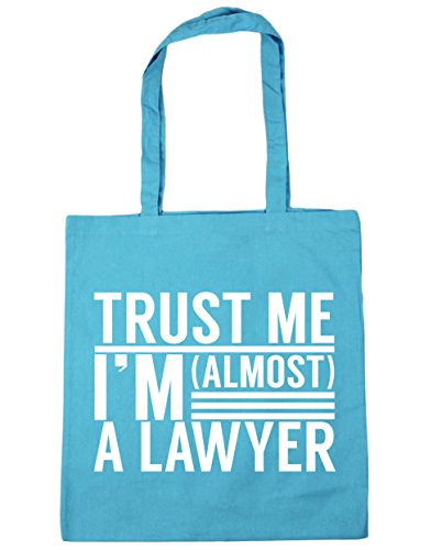 HippoWarehouse Trust me I'm almost a Lawyer Tote Shopping Gym Beach Bag 42cm x38cm, 10 litres Surf Blue