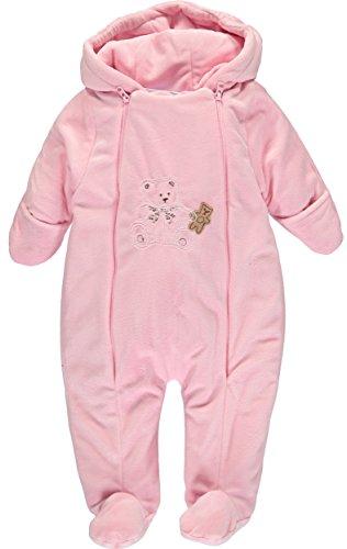 Baby Dove Baby Girls' Bear Plush Pram Bodysuit (3-6 Months, Light Pink Teddy) ()
