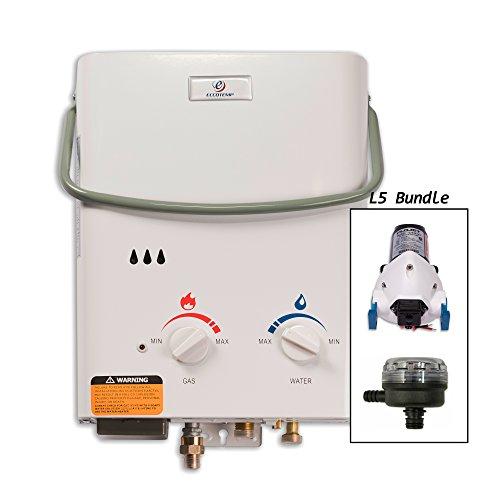 Eccotemp Portable Water Heater (Eccotemp L5 Tankless Water Heater w/ Flojet Pump & Strainer)