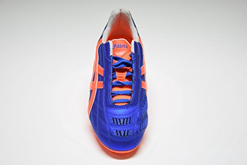 Asics - Botas de fútbol para hombre MARINE BLUE/FLASH ORANGE/SILVER MARINE BLUE/FLASH ORANGE/SILVER