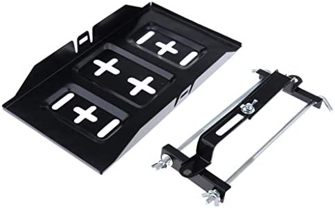Black Car Battery Tray Holder Hold Down Clamp Kit For Automotive Marine Use