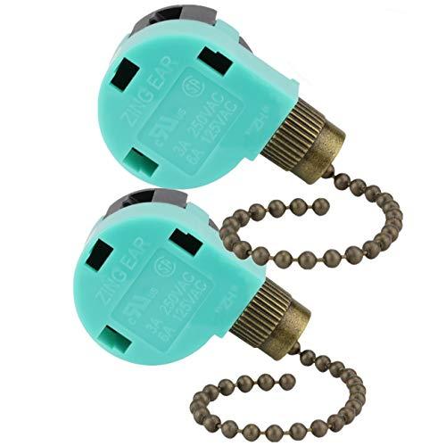 Ceiling Fan Switch Ze 268s6 Zing Ear 3 Speed 4 Wire Pull