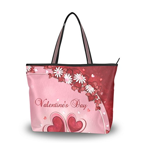 Main Fourre Grand Épaule Valentine tout De Alaza Fleur Sac À Coeur Ftzpxp
