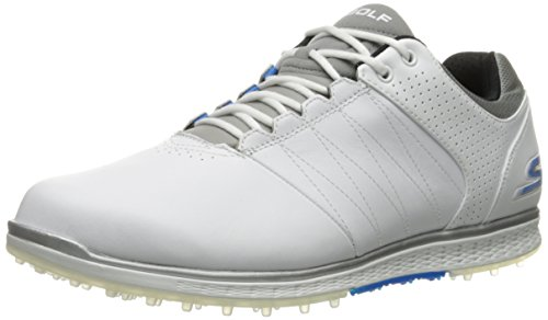Skechers Performance Men's Go Golf Elite 2 Wide Golf Shoe,White/Gray/Blue,9.5 W US