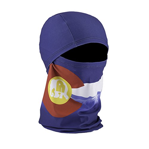 Phunkshun Wear - Convertible Ballerclava - Hinged Design Balaclava - Moisture-Wicking, UPF 50+, Odor Control Fabric - Awesome Ski Neck Warmer or Neck Gaiter That Fits Under Helmets - Made (Colorado Usa Ski)