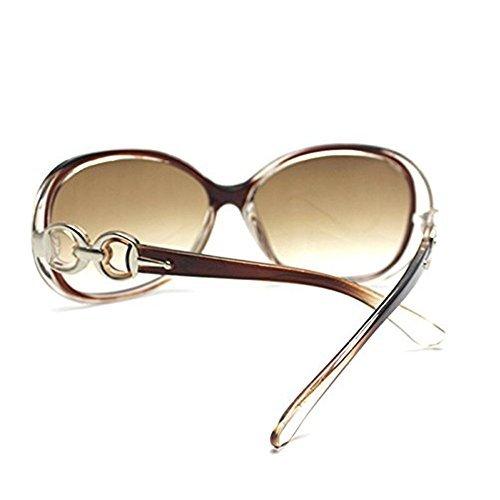 Lense Protección Para Caqui de Dark de Sol Wa Mujer Sol UV Oversized Da Gafas Trendy Retro Gafas wqzaIgg6