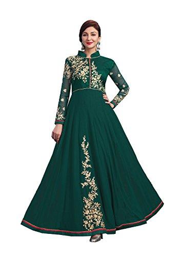 Da Facioun Indian Women Designer Partywear Ethnic Traditonal Salwar Kameez. Da Facioun Femmes Indiennes Concepteur Partywear Ethnique Traditionelles Salwar Kameez. Green 6 Vert 6