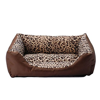 Quick shopping Cozy Warm Leopard Prints Sofa Style Bed for Pets Dogs