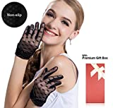 Women's Lace Floral Elegant Gloves for Driving/Party/Evening With''Love'' pattern
