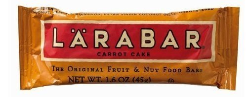 LARABAR Fruit & Nut Food Bar, Carrot Cake, 1.6-Ounce Bars (Pack of 32) by LÄRABAR