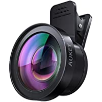 AUKEY Ora iPhone Camera Lens, 0.45x 120° Wide Angle + 15x Macro Clip-on iPhone Lens for iPhone 8 / 7, 6s, 6 Plus, Samsung, Other Android Smartphones